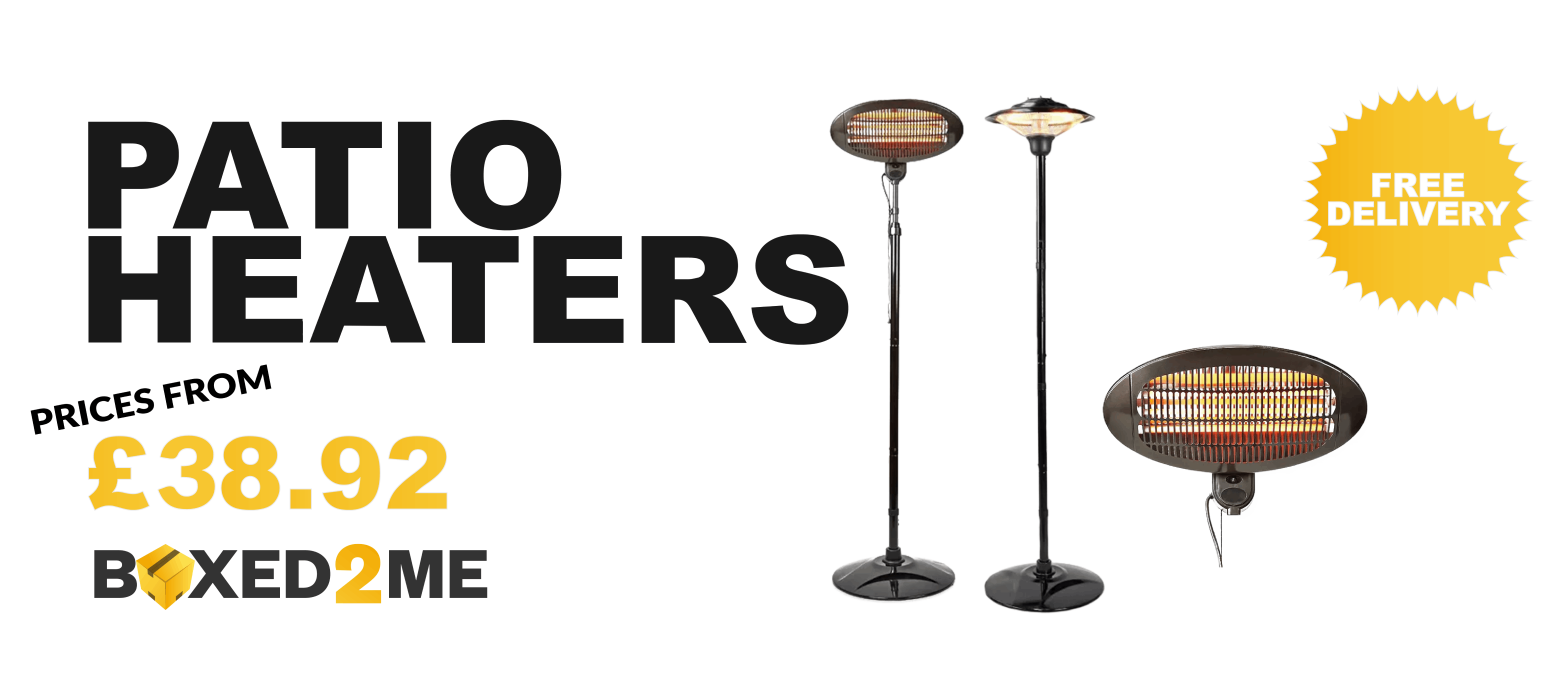 PATIO HEATERS FROM £38.92